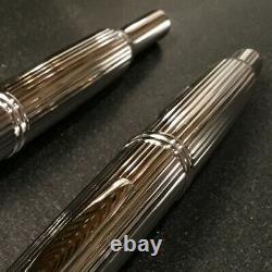 Pilot CAPLESS STRIPE Rhodium Vanishing Point Fountain Pen Medium Nib FC-3MS-S-M