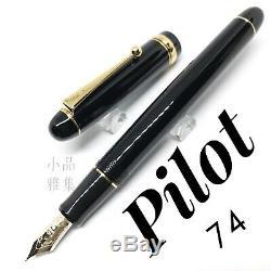Pilot Custom 74 Black 14K nib Fountain Pen Many nib size to Choose