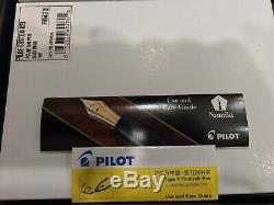 Pilot Fountain Pen Custom 823 Fine Nib Smoke/Transparent Black Plunger Fill New