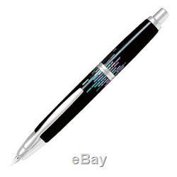 Pilot Namiki Capless Raden Stripe 18K F Fine Nib FCN-5MP-RS-F Black Fountain Pen