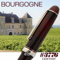 Platinum #3776 CENTURY Fountain Pen Bourgogne Rhodium SF Nib PNB-15000CR#71-0