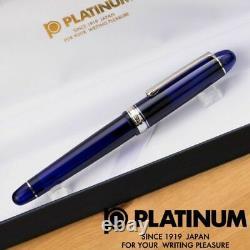 Platinum #3776 CENTURY Fountain Pen Chartres Blue Rhodium SF PNB-15000CR#51-0
