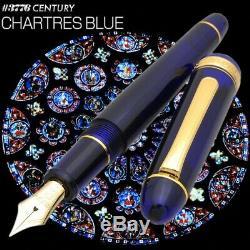 Platinum New #3776 CENTURY Fountain Pen Chartres Blue Medium Nib PNB-13000#51-3