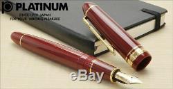 Platinum PRESIDENT Fountain Pen Wine Red Medium Nib PTB-20000P#10-3