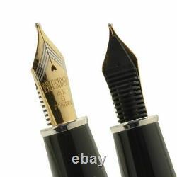 Platinum PRESIDENT Rhodium Finished Fountain Pen Black B Nib PTB-25000PR#1-4