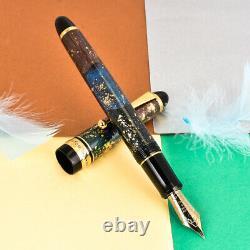 Rare Pilot Custom 743 Urushi Art 14K Large Gold B Broad Nib Fountain Pen