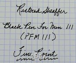 Restored Sheaffer EXCELLENT Black Pen For Men III (PFM III) Pen & Ballpoint