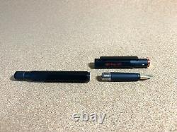 Rotring 600 Fountain Pen Black-Gold, 18k Gold L Nib, (New Old Stock) since1980s
