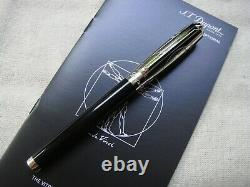 S. T. Dupont LE Vitruvian Man Black & Palladium 14K Fountain Pen #0/1490