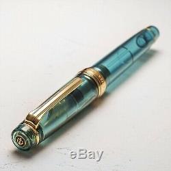 SAILOR x WANCHER Professional Gear 21K Fountain Pen Limited Aqua Blue MF JAPAN