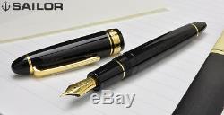 Sailor 1911 Gold Profit Large 21K Fountain Pen Black Fine Nib 11-2021-220