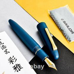 Sailor KOP King Of Pen Ebonite Urushi Iro Miyabi Fukai 21K Gold Nib Fountain Pen
