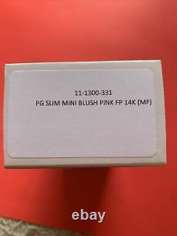 Sailor Pro Gear Slim Mini Fountain Pen in Blush Pink 14kt Gold Medium Fine