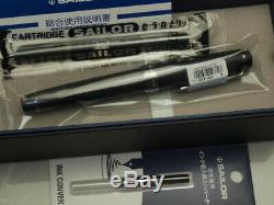 Sailor Professional Gear Imperial Black 21K Medium-nib & converter 11-3028-420