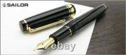 Sailor Professional Gear Slim Gold Fountain Pen Black Medium Nib 11-1221-420