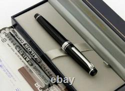 Sailor Professional Gear Slim Silver Fountain Pen Black Fine Nib 11-1222-220