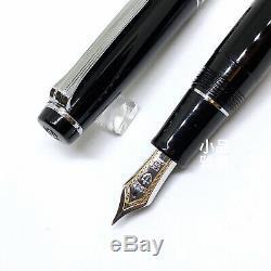 Sailor Professional Gear with Silver Trim 21K nib Black Fountain Pen