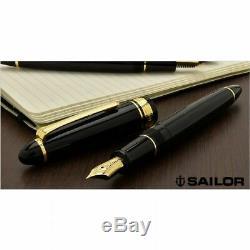 Sailor Profit 1911 Standard 21k Fountain Pen Black Medium Fine Nib 11-1521-320
