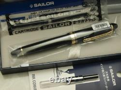 Sailor Profit Standard 21 Black 21K Music-nib with converter 11-1521-920