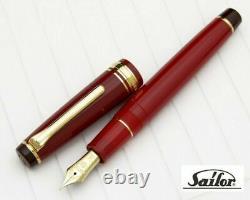 Sailor Sixtieth KAN Fountain Pen Red Fine Nib 10-3360-232