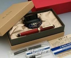 Sailor Sixtieth KAN Fountain Pen Red Medium Nib 10-3360-432