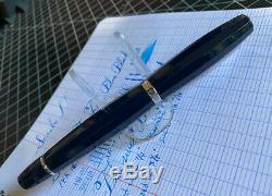 Scribo Feel Fountain Pen, Blue Black, 14k Flex XXF to BBB Med/Full Flex