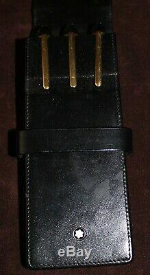 Set of 3 Mont Blanc Le Grand Meisterstuck Pens in Black / Gold