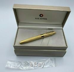 Sheaffer Legacy Heritage Kings Gold Fountain Pen 18K Med Nib New