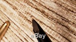 Sheaffer PFM Pen For Men Fountain Pen Snorkel Black 12k Gold Filled Cap 14k Nib