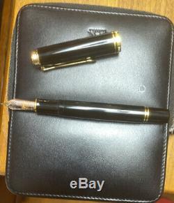 Used Pelikan M1000 Black 18k nib F