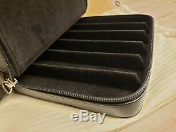 VISCONTI Dreamtouch Leather 6 Pen Pouch / Case, Black