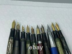 Vintage 14 Fountain pen pencil lot from estate parker watermans Sheaffer Lamy