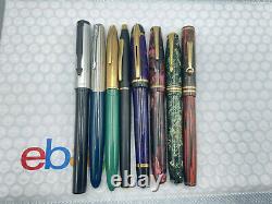 Vintage 8 Fountain pen lot Parker Sheaffer Wahl Conway Stewart Cross Waterman