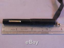 Vintage Black Ring Top Fountain Pen-flexible fine nib
