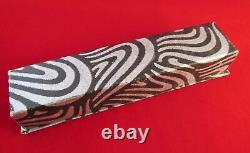 Vintage CONKLIN Stars & Stripes Fountain Pen #3 Nib CRESCENT Filled Restored