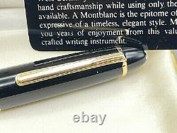 Vintage MONTBLANC 146 LeGrand Fountain Pen Blue Window 14K Med Flexy Nib NOS NEW