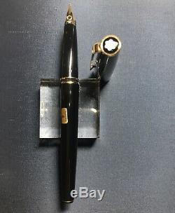 Vintage Mont Blanc Classic 13100 Black 14K 585 Gold B Nib Fountain Pen