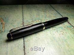 Vintage Montblanc 042G Fountain Pen-Jet Black-14K Nib-Germany 1954-1956