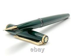 Vintage Montblanc 221 Fountain Pen in Dark Green Color