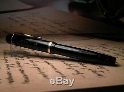 Vintage Montblanc 234 1/2G Fountain Pen-Black-14K Flex Nib-Germany 1950s
