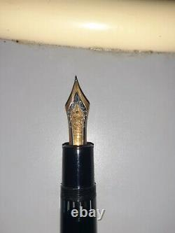 Vintage Montblanc Meisterstuck 4819 Fountain Pen 14k Gold 585 NEVER USED WCASE