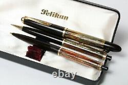 Vintage PELIKAN 400 & 355 & 450 Fountain 14K 585, Ballpoint Pen & Mechanical BOX