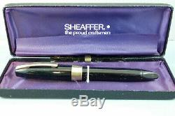 Vintage Sheaffer Snorkel PFM III Black Fountain Pen, GT, c1959, Boxed Ex Cond