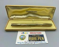 Vintage WATERMAN 100 Years Fountain Pen 14K SOLID GOLD OVERLAY MINT 5.42 long