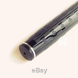 Wahl Eversharp Decoband Engine Tured Black Super Flex Silver Trim Fountain Pen