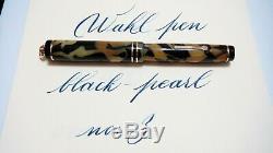 Wahl Pen, Ring Top, Black&pearl, Full Flex, No 3,14k Medium Nib, Made In USA