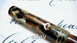 Wahl-eversharp Gold Seal, Full Size, Black&pearl, Full Flex 14k Fine Nib, USA