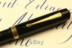 Waterman Brown #7 Keyhole Flexible Needlepoint XXF BBB Jet Black Celluloid