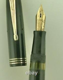 Waterman Deco Fountain Pen Control Flex New Sac Calligraphy C1940 Keyhole Nib