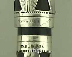Waterman Deco c. 1934 Sterling 403 Fountain Pen & Pencil New Sac